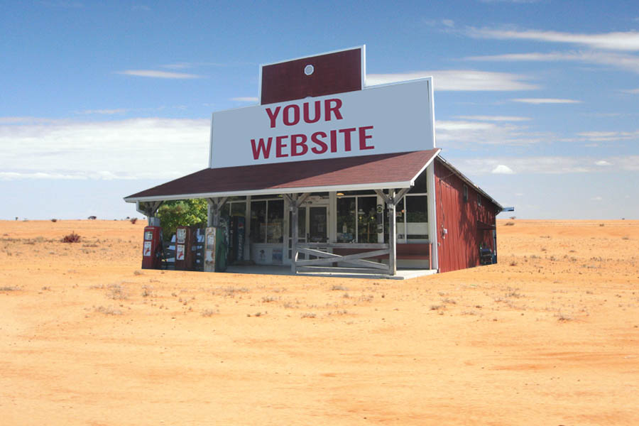 Do I really need a new website? - Shop in the desert.