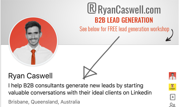 I Help B2b Consultants Generate new leads by starting valuable conversations with their ideal clients on linkedin